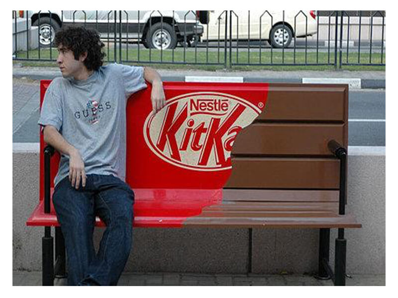 street marketing: banco kitkat